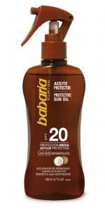 Babaria Dry Oil Coconut and Aloe Spray SPF 20 UVA/UVB 200ml